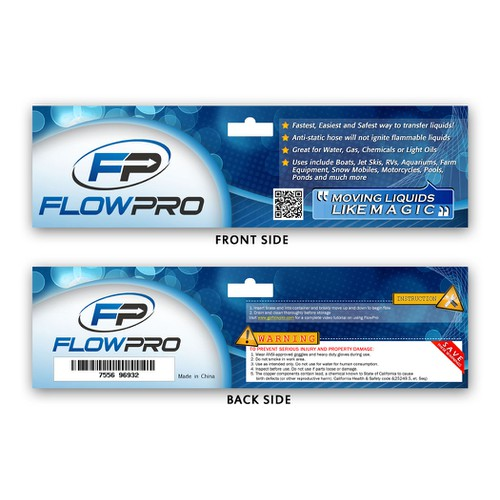 Help FlowPro with a new product packaging