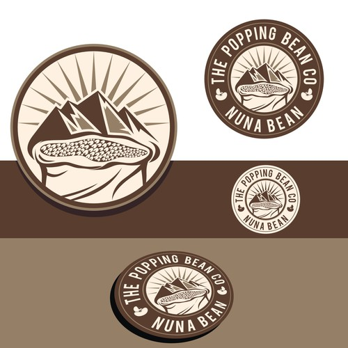 Create an eye catching logo for The Popping Bean Co.