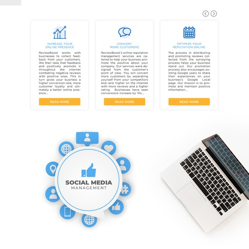 landing page for online service company