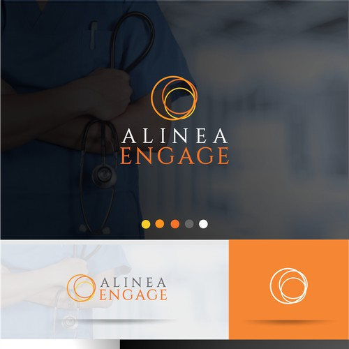 Clever Logo for Alenia Engage