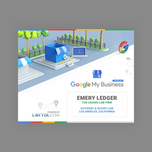 Google My Business Plaque for Lawyer.com