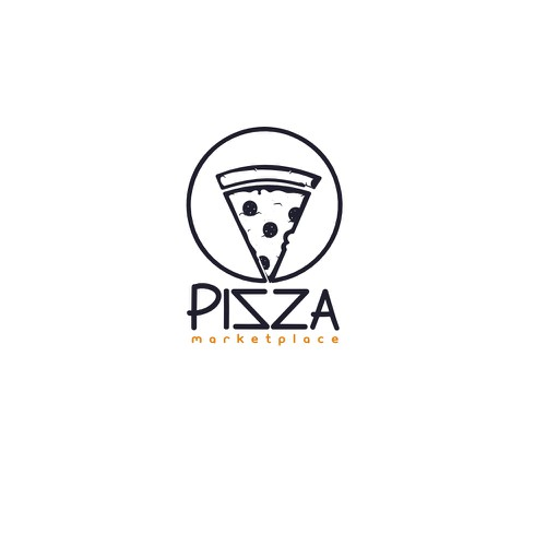 Pizza delivery app logo