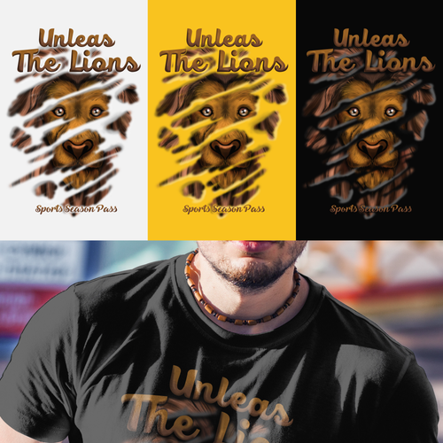 Tshirt design for unless the lion