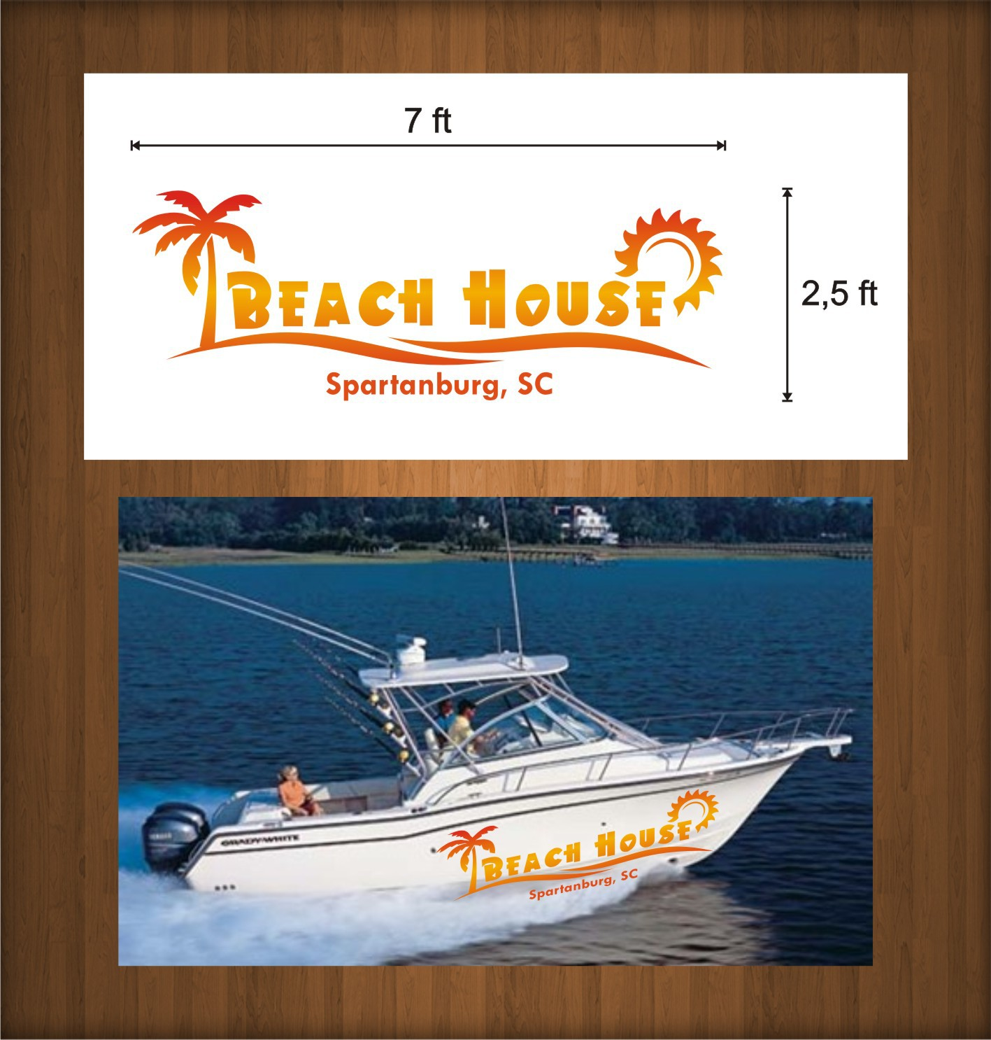 Boat name graphic