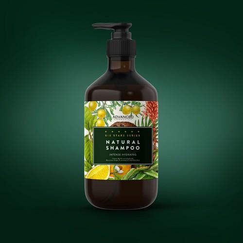 botanical shampoo label