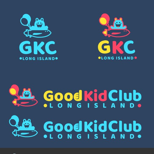Fun and playful logo for GKC ( Good Kids Club)
