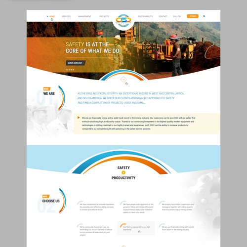 Web Design for a drilling company