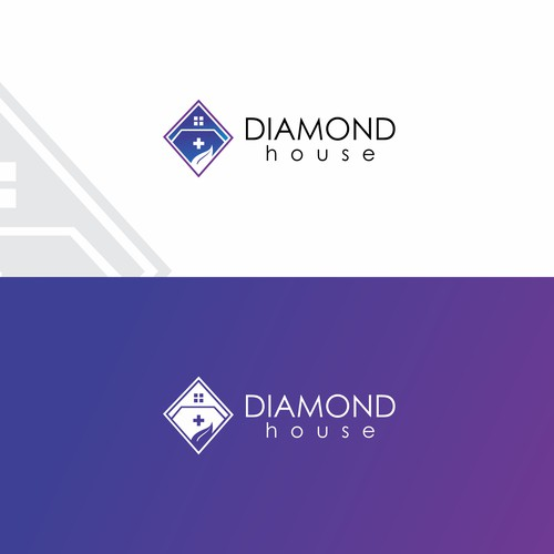 Modern logo for Diamond House.