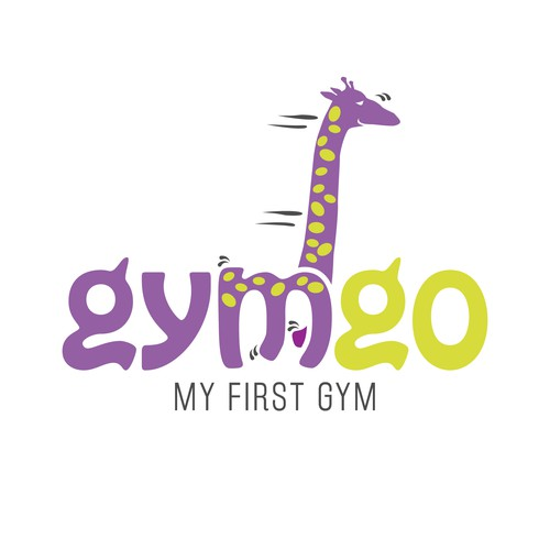 Create a funny logo for a kids fitness center