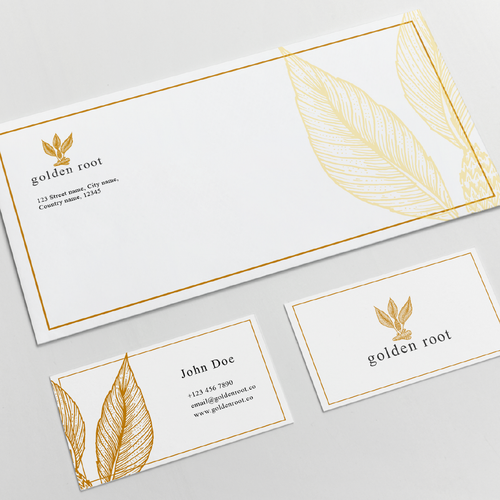 Logo and brand identity for a trendy turmeric food brand