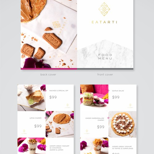 Eatarti Food Menu Design