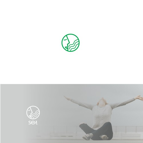 Logo for breathing wellness app