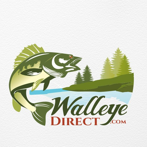 WalleyeDirect.com needs fishy classic catchy logo
