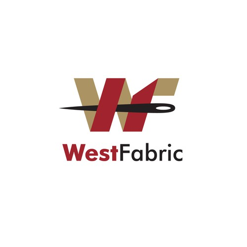 Clean and modern design for fabric online company