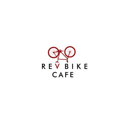 logo for rev bike cafe