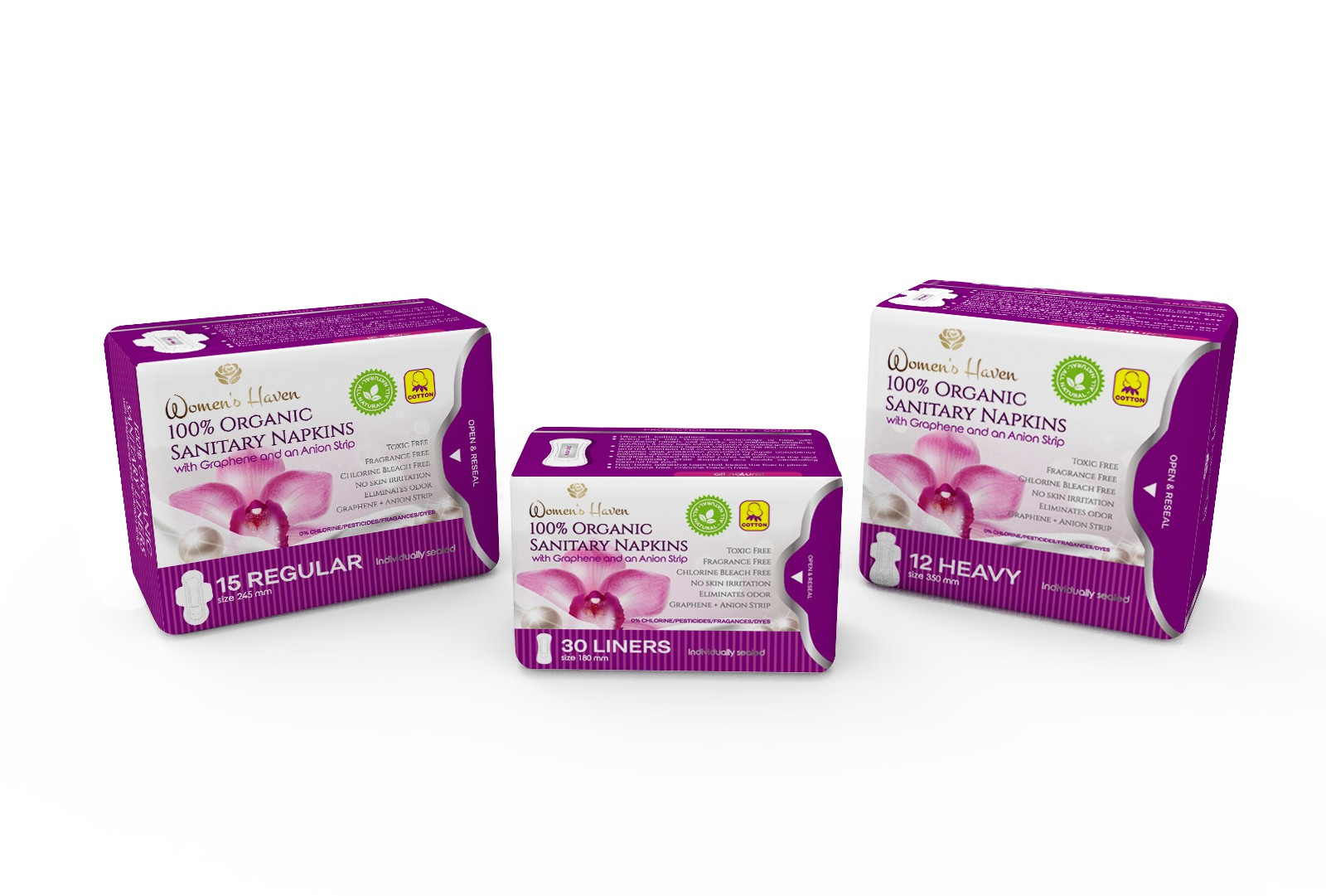 Packaging Design for Feminine Sanitary Pads / Liners