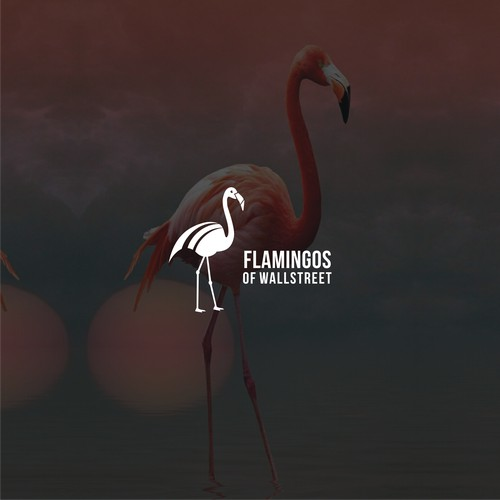 Flamingos of Wallstreet logo Design