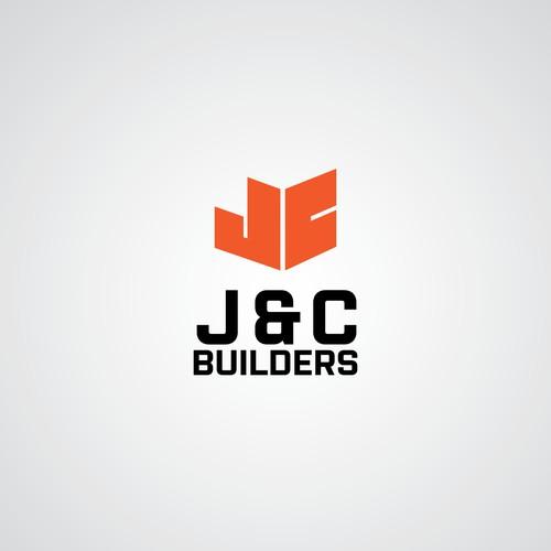 flat logo for contruction company