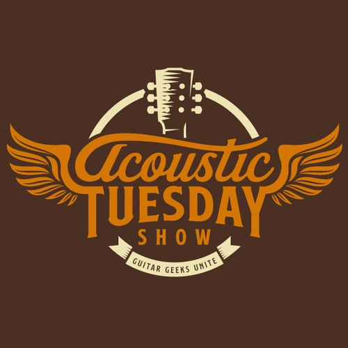 Vintage Style Logo for Acoustic Show