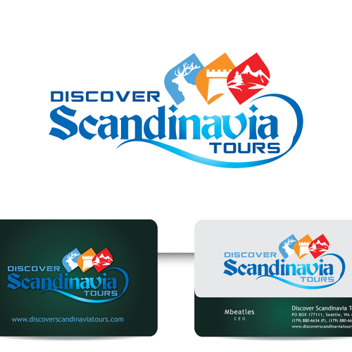 Discover Scandinavia Tours (or maybe simply DST) needs a new logo and business card