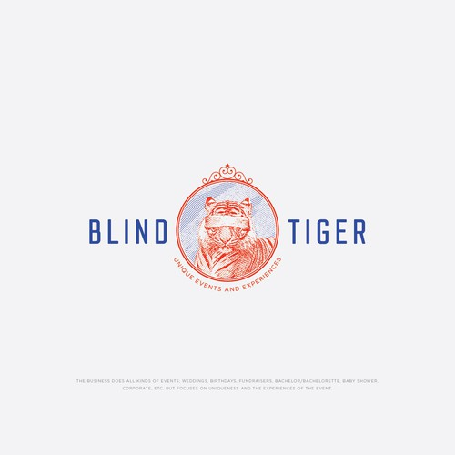 Concept for Blind Tiger Logo for an event business