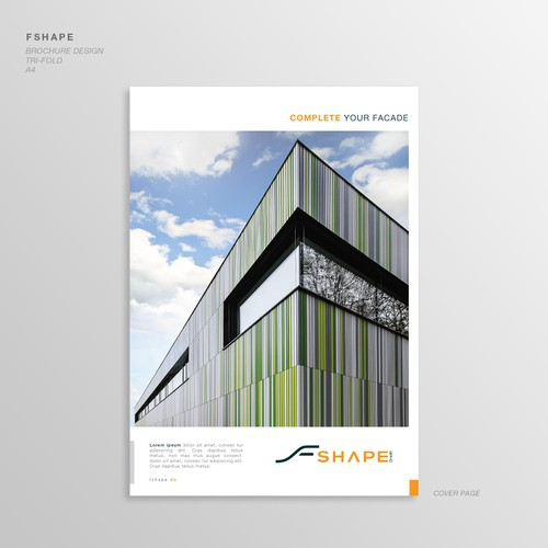 Bauhaus Style Brochure for F Shape