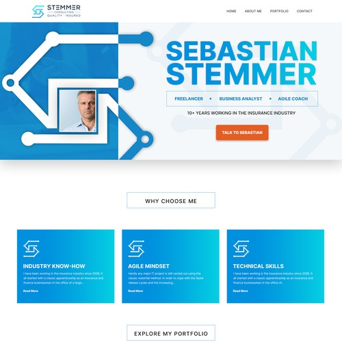 Business Analyst Landing Page Design