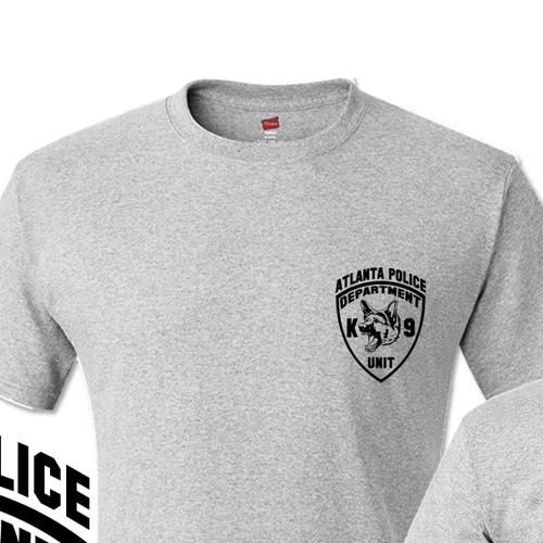 Create a simple police K-9 unit t-shirt.