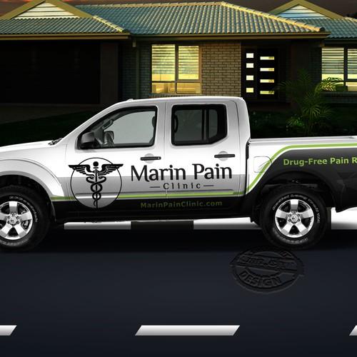 car wrap for marin clinic