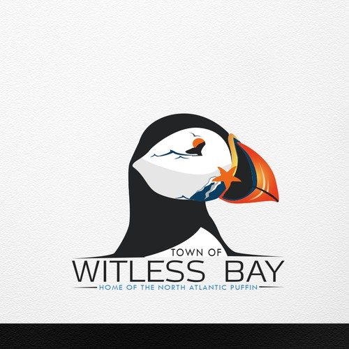 Make a logo for a municipality featuring a PUFFIN!