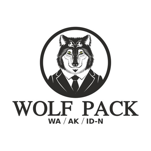 Tribal wolf logo