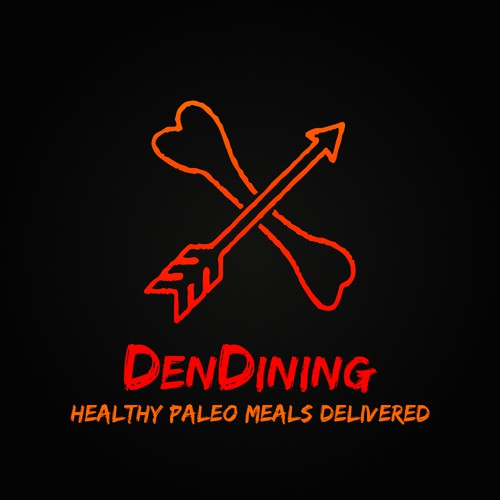 A compelling brand focal point logo for DenDining, paleo meal delivery company