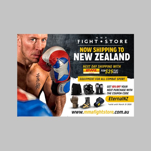 Flyer for MMA Fight Store