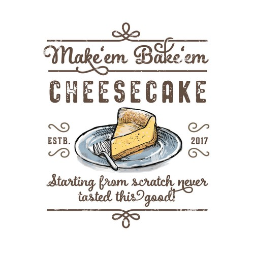 Logo for hand made cheesecakes!