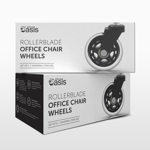 Office Chair Wheels Packaging Concept