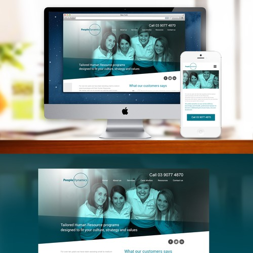 Create the next website design for People Dynamics Pty Ltd