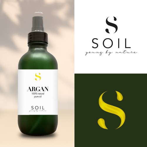 Logo concept for natural cosmetic oils