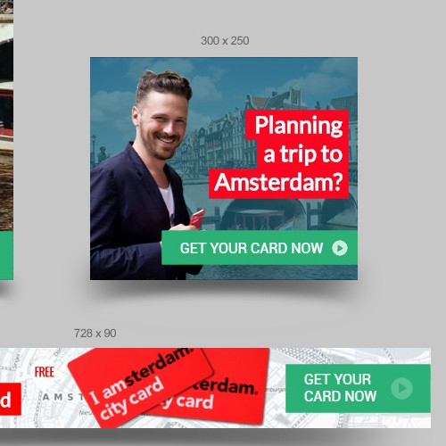 "Banner ads design for ""I amsterdam City Card"""