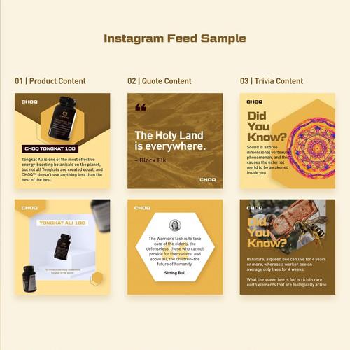 Choq Instagram Feed design