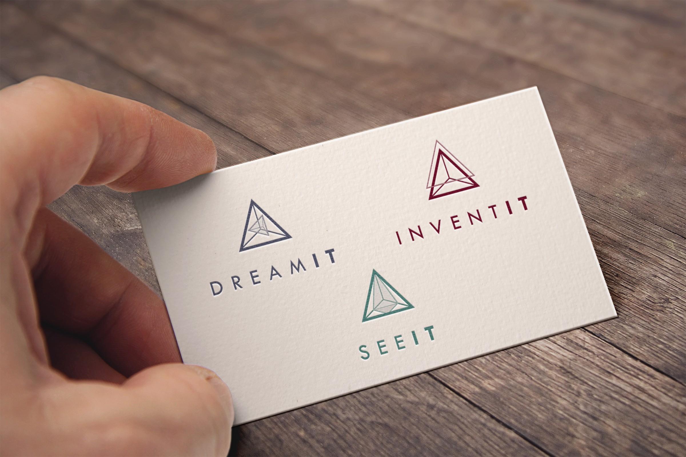 Design a minimalist, abstract logo for a premium virtual reality cinema.