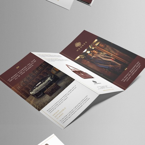Tri-fold por luxury brand