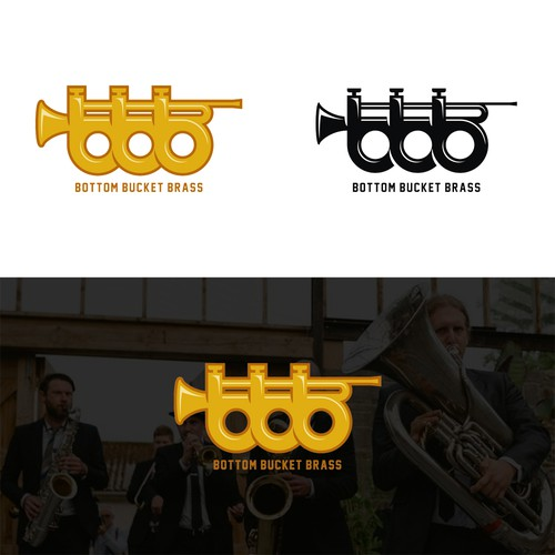 Bottom Bucket Brass Logo