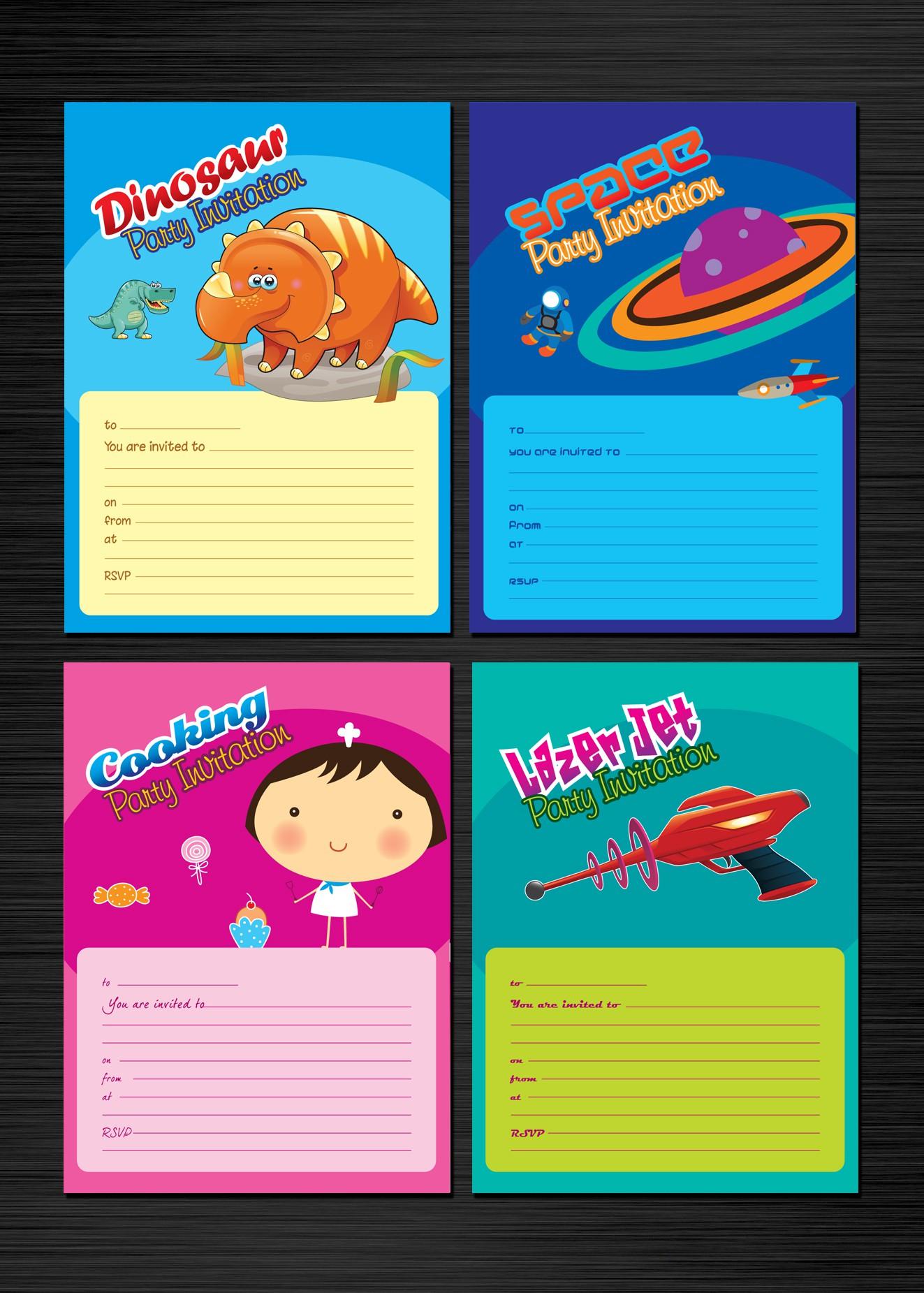 Invitation Designs for Ink Impressions