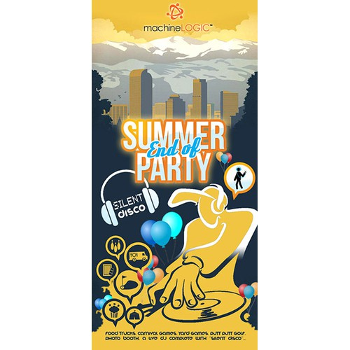 company party poster