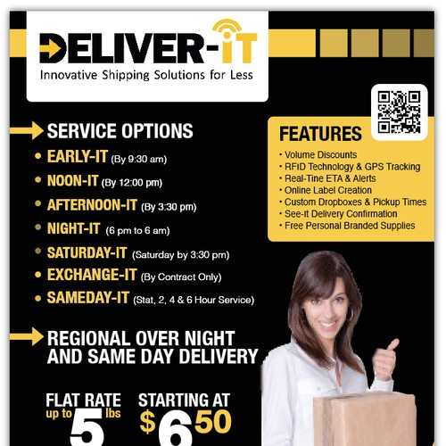 Flyer design for a Shipping Company