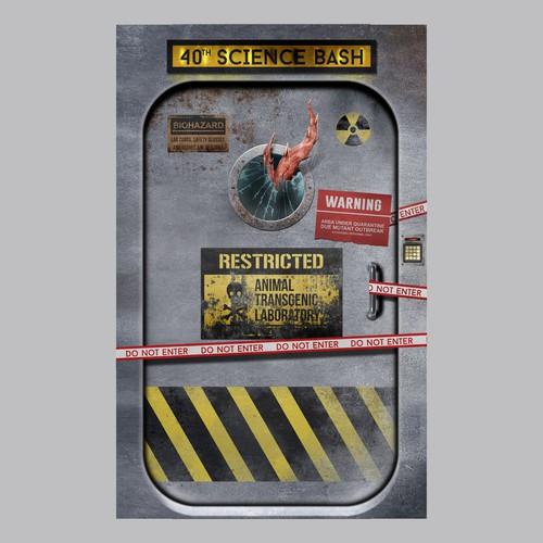 Door Sticker 40th SCIENCE BASH