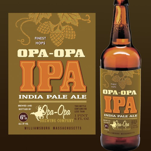 IPA beer label