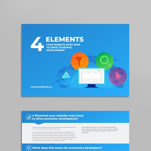 Colorful digital brochure