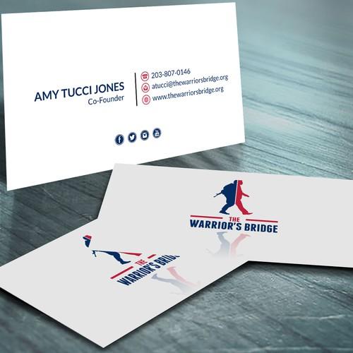 Create a killer business card for a veteran's non profit