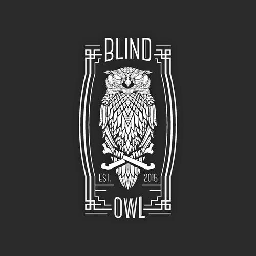 Art Deco Owl Logo